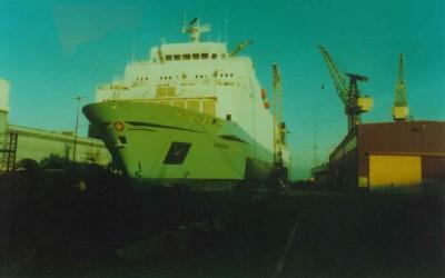 portside in drydock